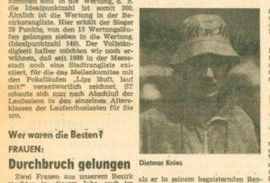 Sächsisches Tageblatt 1980; rechts: Dietmar Knies