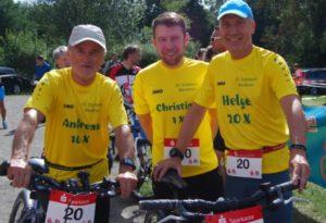 Unser Team - Helge Hallmann, Christian Sieler und ich (v.r.n.l.)