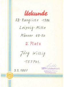 Diverse Urkunden verschiedener Stadtbezirksranglisten – Archive: Jörg Wittig und Christian Brendecke