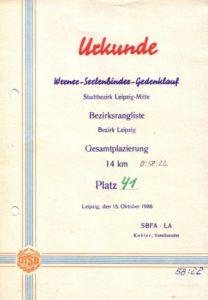 Urkunden vom Sommernachtslauf 1985 und Werner-Seelenbinder-Gedenklauf 1986 – Archiv: Christian Brendecke