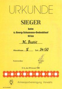 Georg-Schumann-Gedenklauf von 1988 Archiv: Manfred Busse
