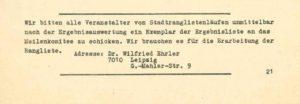 """Aus """"Laufinformationen des Leipziger Meilenkomitees"""", 1/1986, Seite 21 – Archiv: Rudi Ulbrich"""