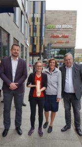 Pokalübergabe in Leipzig