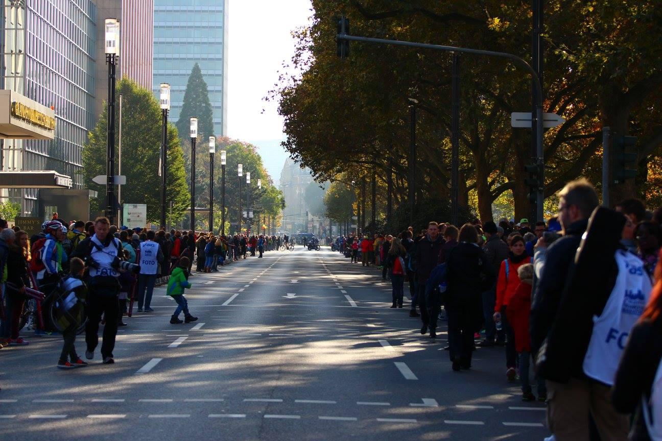 Frankfurt Marathon - Noch ist niemand auf der Strecke